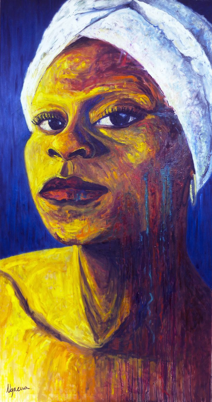 She's Marina, my mum. Powerful strength black african woman. Always fighting to keep going. Proud. Woman Painting, African Women, Roots, Black Women, Strength, Portrait, Water Colors, Paintings, African Tribes