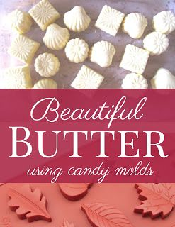 Use candy molds to make decorative butter for your Thanksgiving table. Get all the best tips here.