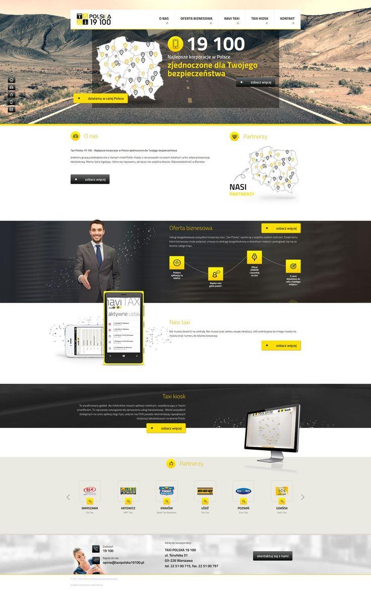 Projekt strony internetowej dla Taxipolska. Webmedio.  #taxi_website #taxi_layout   http://www.webmedio.pl/
