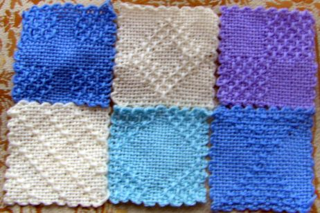 Weaving patterned squares