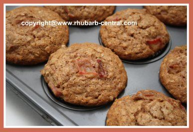 This (see the pictures!) Healthy Rhubarb Muffins Recipe makes a scrumptious, healthy muffins with whole wheat and oatmeal.