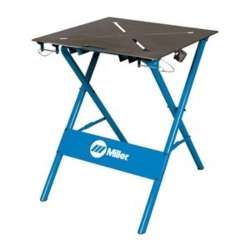 "ArcStation Workbench, Work Surface 29x29:   Arc Station welding table with the work surface width of 29"" and depth of 29"" comes with the construction of 1-1/2"" diameter steel tube frame. The product has work surface thickness of 3/8"" and load capacity 500 lbs."