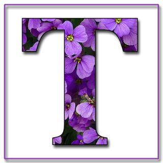"LA ABUELITA ENCANTADA BLOG: ""Flores azules y violetas"" Con Scrapbook Letras del alfabeto en JPG y PNG ✿Teresa Restegui http://www.pinterest.com/teretegui/✿"
