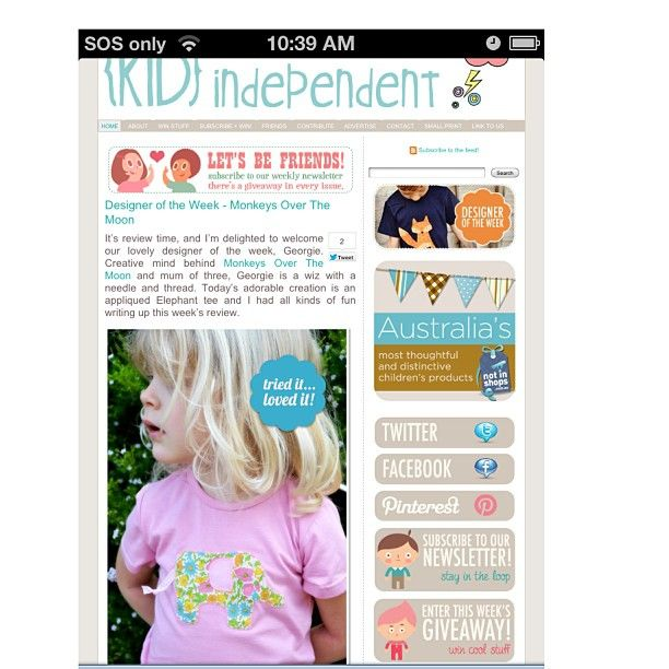 We are 'Designer of the Week' at @KID independent   <3 Beautiful review by Indi :) so excited! :) #love #handmade