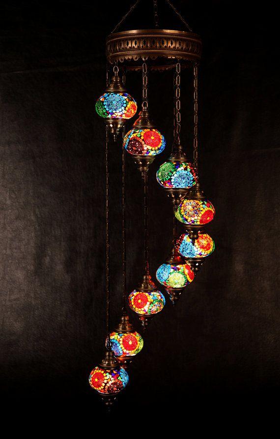 Arabian Mosaic Lamps Moroccan Lantern Chandelier Turkish