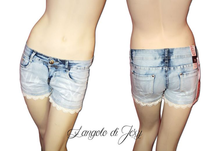 Jeans donna shorts