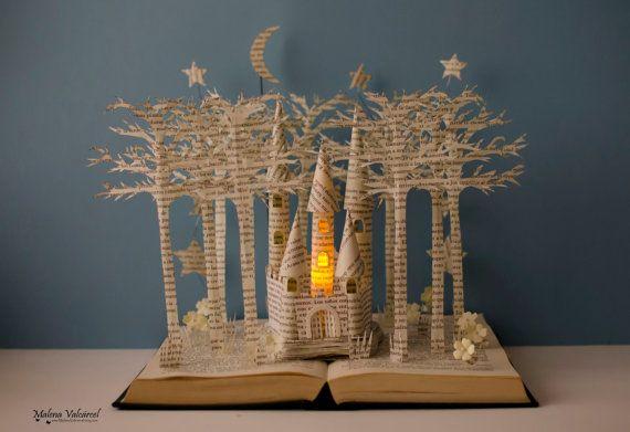 Modifié de château féerique  livre Sculpture  par MalenaValcarcel