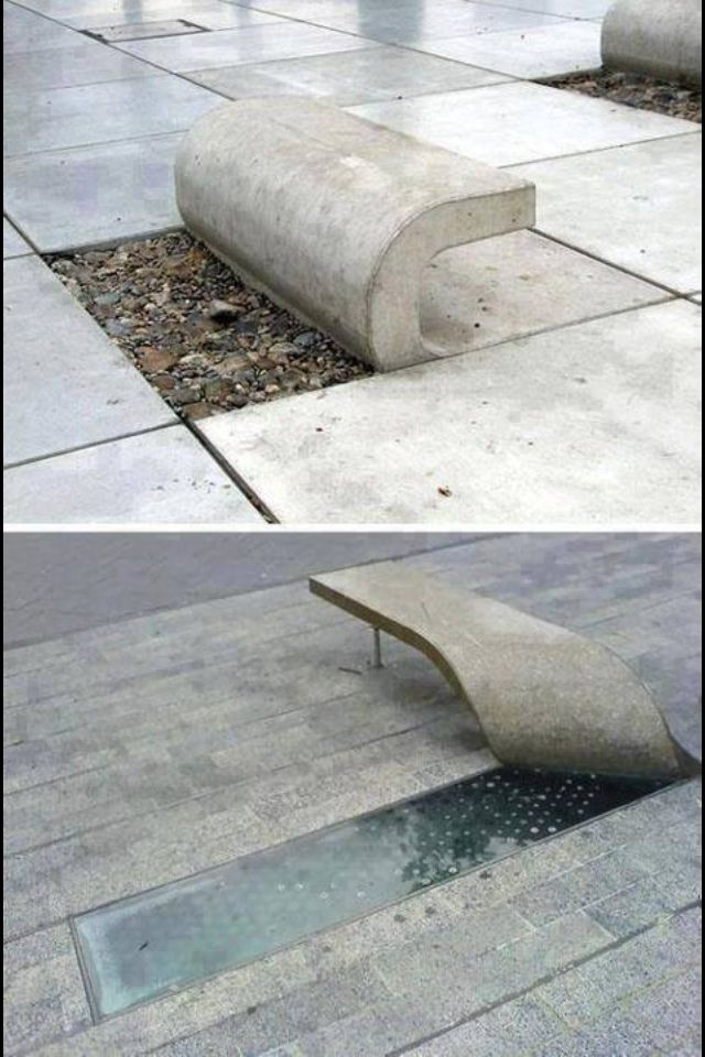 Creative stone bench