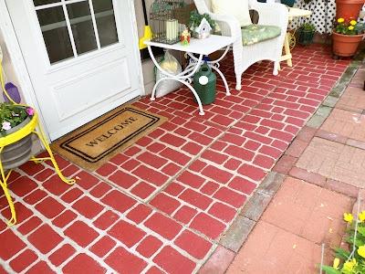 24 best faux brick floors images on Pinterest | Brick flooring, Fake ...