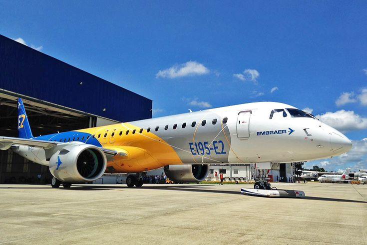 Com participação de Botucatu: Embraer apresenta o E195-E2, maior avião desenvolvido no Brasil -     A Embraer apresentou nesta terça-feira (7), em sua fábrica em São José dos Campos (SP), o jato comercial E195-E2, o maior avião já projetado e construído no Brasil, com 41,5 metros de comprimento.A aeronave é a segunda geração do E195 e o segundo modelo da nova família E-Jets E2 a - http://acontecebotucatu.com.br/geral/com-participacao-de-botucatu-embr