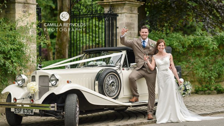 Satin and Lace Weddings can provide couples with vintage car hire for their big day. Image © Camilla Reynolds Photography. #wedding #weddingcars #cotswoldwedding #gloucestershire