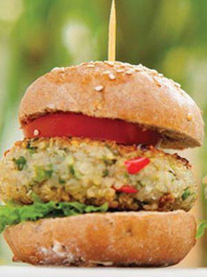 Hambúrguer de quinua (vegan)                                                                                                                                                                                 Mais