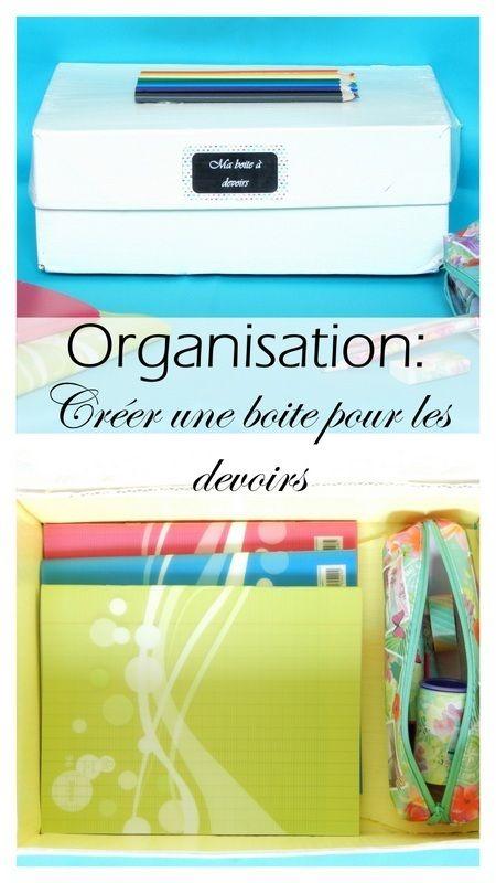 diy organisation créer une boite pour les devoirs
