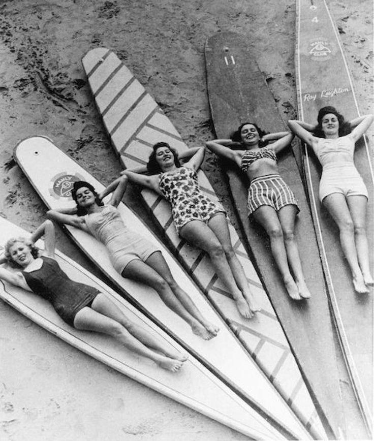 annees 30 surf plage usa maillot de bain femmes