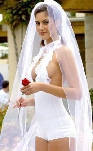 slutty wedding dress, but if I could pull it off I would wear it