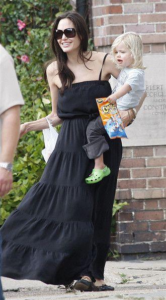 Angelina Jolie with Shiloh Jolie Pitt.