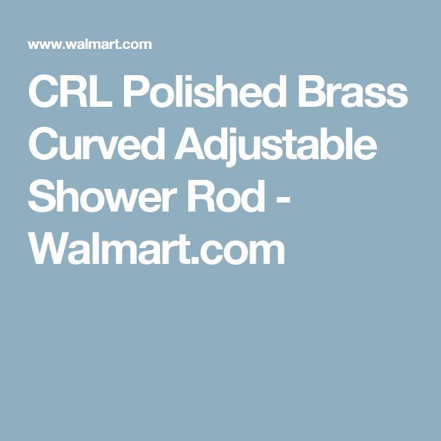 CRL Polished Brass Curved Adjustable Shower Rod - Walmart.com