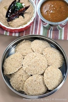 Fada Idli | Dalia Idli | Broken Wheat Idli | Steamed Black Gram and Wheat Cakes