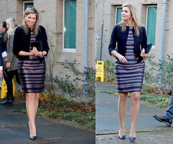 On December 8, 2015, Queen Maxima visited the Alexander Monro Breast Cancer Hospital in Bilthoven. The Netherlands.