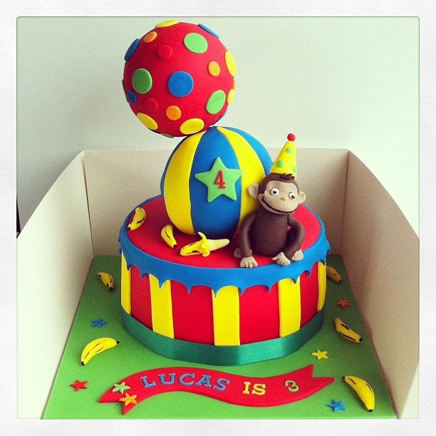 Curious George Birthday Cake Designs