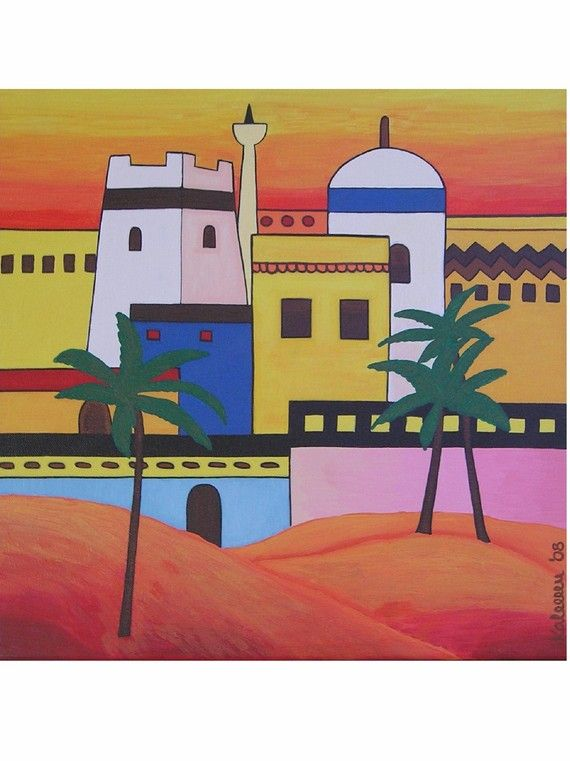 Arab Town by Pepponi  @sunsan #Arabia #painting #art