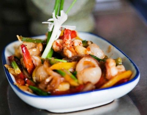 Spicy, Sweet and Sour Stir-Fried Prawns (Koong Saam Rod)