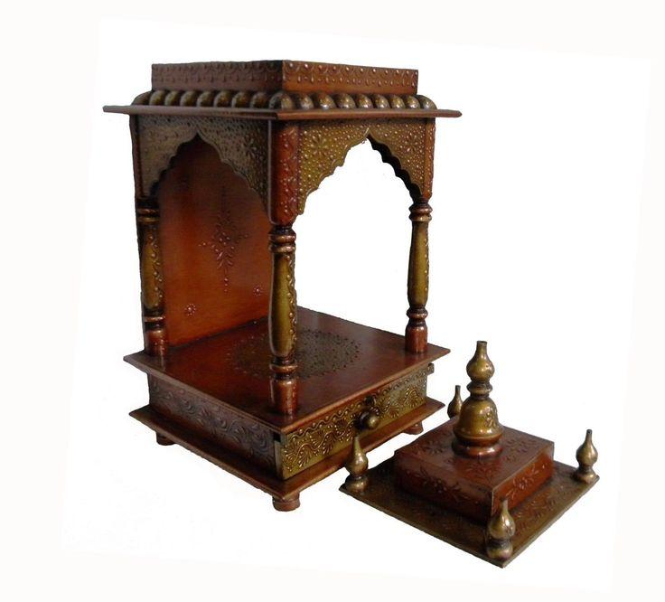 Wooden Hindu Temple Mandir Embossed Painting Pooja Ghar Home / Office Art JS24