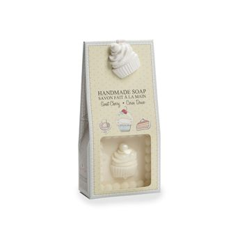The sweet cherry scent of this handmade soap makes it the perfect gift set for anyone! Containing natural extracts of linen oil known for its soothing and moisturizing properties, this soap truly is a treat! - $7.89