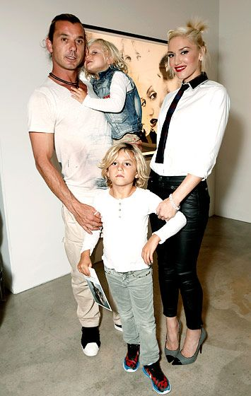 Gavin Rossdale and his wife Gwen Stefani took their boys Kingston and Zuma to a photo exhibit in Los Angeles.