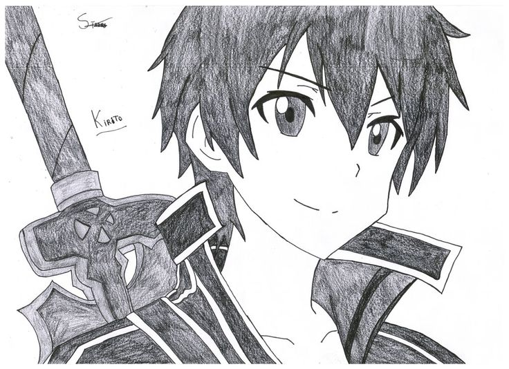 Kirito and Asuna - Sword art online by Stades-Drawing on DeviantArt