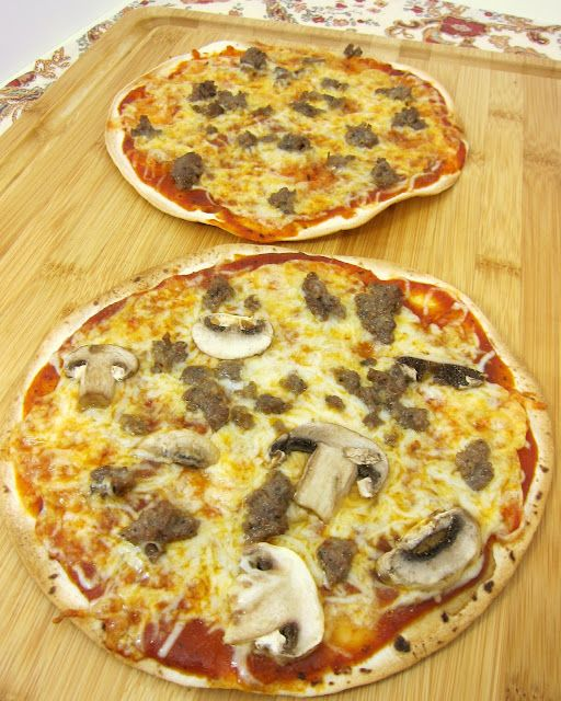 use a low-carb tortilla for a low carb pizzza!