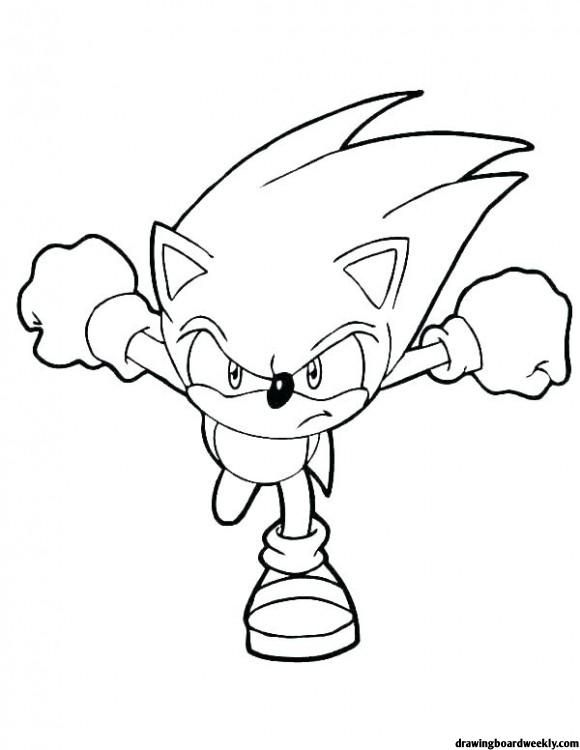 Sonic The Hedgehog Coloring Pages In 2020 Sonic Szinezo Kreativ
