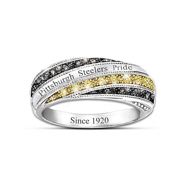 Steelers In Vogue Officially Licensed Pittsburgh Steelers Womens Ring