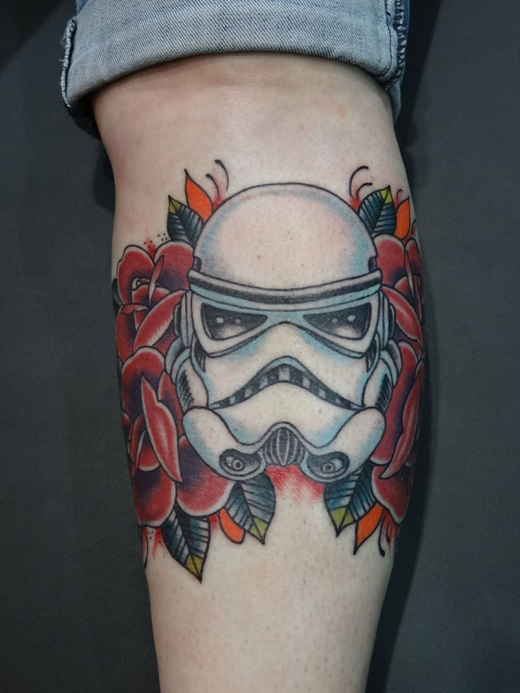 Cover Up Rose Outline: Stormtrooper Tattoo Outline Stormtrooper Rose Cover-up