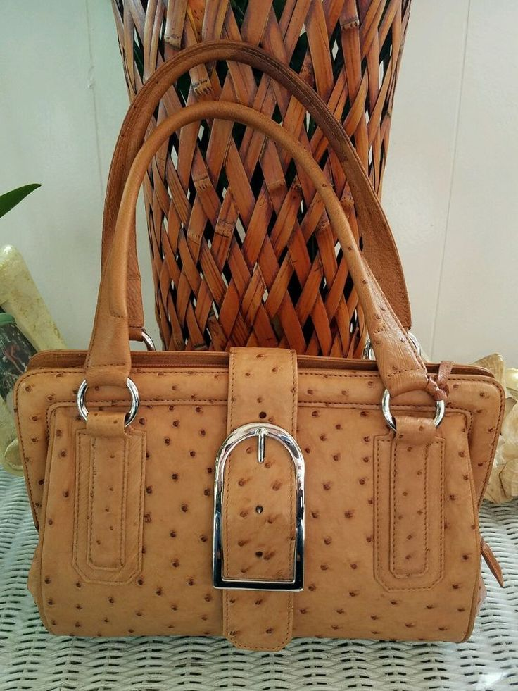 VIA LA MODA GENUINE OSTRICH SKIN HANDBAG VLM PURSE SOUTH AFRICA #VIALAMODA #Satchel