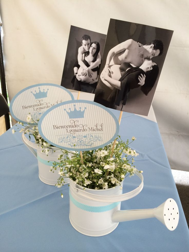 Boy baby shower blue vintage party ideas diy centro de