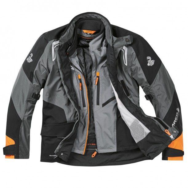 Travelmate Sympatex® Jacke anthrazit/schwarz/orange - Jacken - Motorradbekleidung - Bekleidung