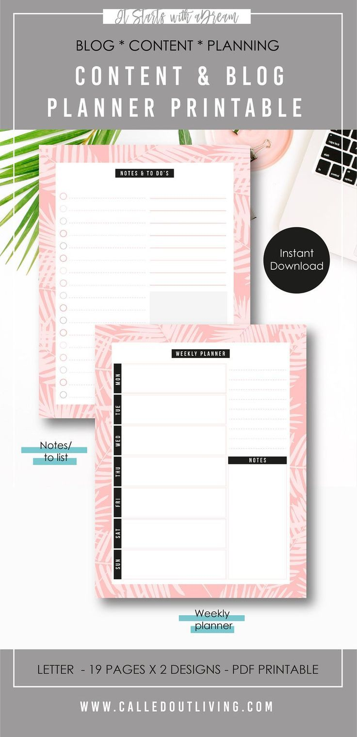 Blog Post Planner Content Creation Printable Planner Blog Post Checklist Blog Post Ideas Blog Content Planner Keyword Planner Printable Blog Posts Planner Blog Planner Printable Printable Planner