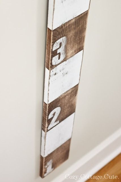diy growth chart out of our old fence wood