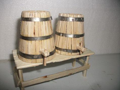 Форум Belenismo - Шаг за шагом -> как сделать несколько бочках вино
