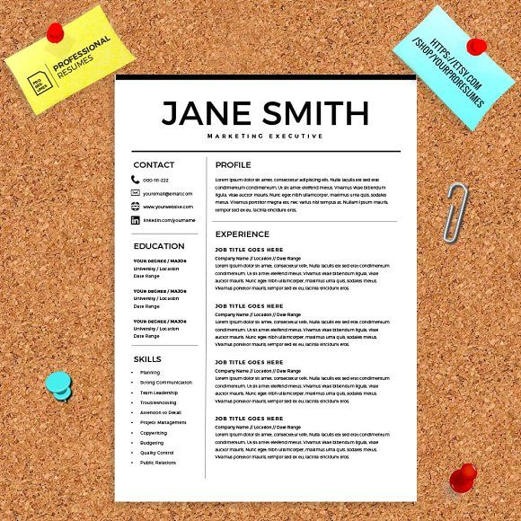 resume template free cover letter by kingdom of design on creativemarket - How Do You Write A Cover Letter For A Resume
