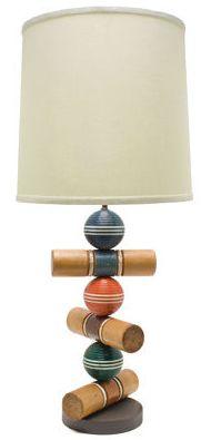 croquet set turned lamp