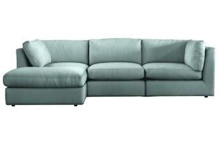 Teal/light blue sofa ideas.