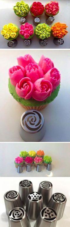 Boquillas para hacer flores instantáneas