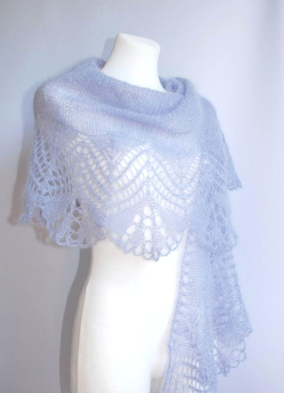 Lavender blue hand knitted mohair lace wedding by aboutCRAFTS