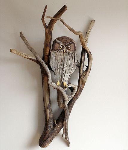 Driftwood Owl Wall Sculpture | Flickr - Photo Sharing!