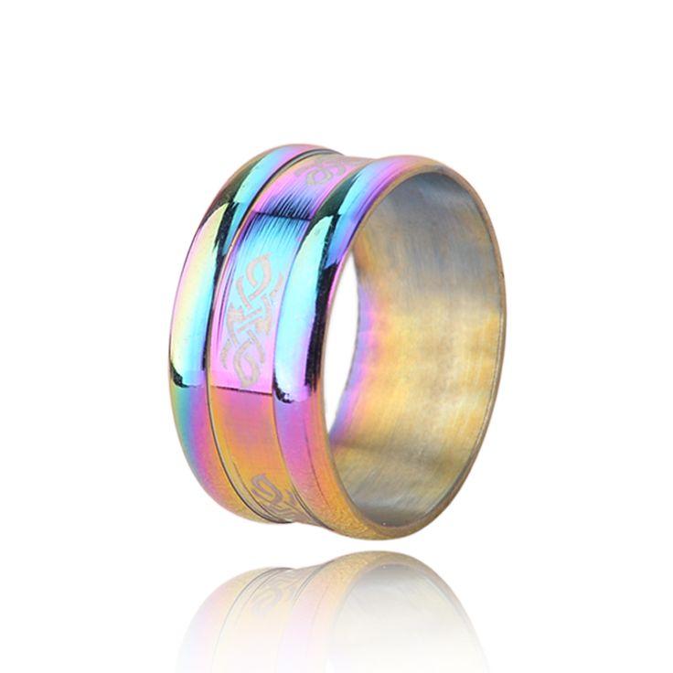 Купить товарПоставлять радуги кольца персонализированные кольца для мужчин и женщин из нержавеющей стали продавать кольцо титановые стали ювелирные изделия оптовая продажа ( KA0114 ) в категории Кольцана AliExpress.                                                                                         Особенности продукта