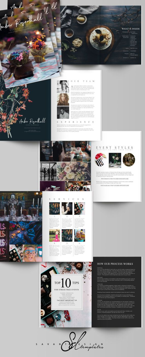 Are you an Wedding or Corporate Event Planner looking to set your business apart. This Marketing Package has you covered from a gorgeous Welcome Guide Magazine that outlines your style, services and pricing in a beautiful visual display and includes a 5x5 Marketing Trifold Brochure, Business Card,    Print Marketing Card and Sample Proposal.