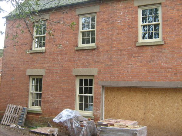 Stone coloured wooden windows For The Old Rectory by Richard Merrin, via Behance. #sash #windows #heritage www.merrinjoinery.com