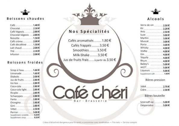 Café menu   This could come in handy  @Judith de Munck Thorrington-Smith